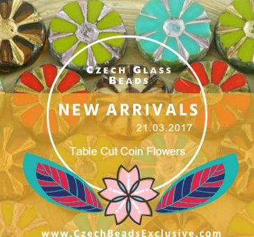 Dear handmakers! We are happy to present you new and beautiful Czech Glass Table Cut Coin Flower Beads! https://czechbeadsexclusive.com/picasso-czech-glass-table-cut-coin-flower-beads-new-arrivals-21-03-2017/