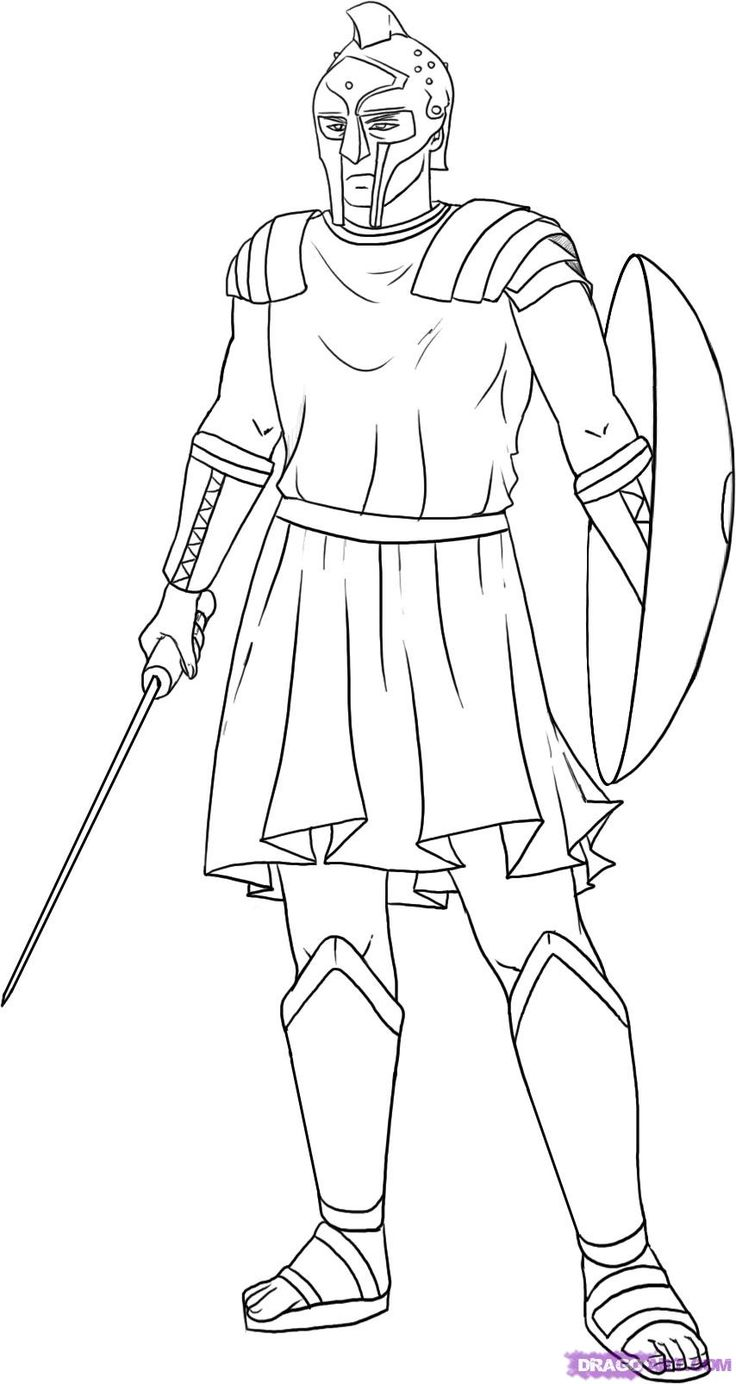 roman coloring pages - photo#17