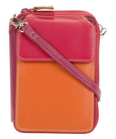 Loving this Berry Blast Leather Crossbody Wallet on  zulily!  zulilyfinds 29e0d832de