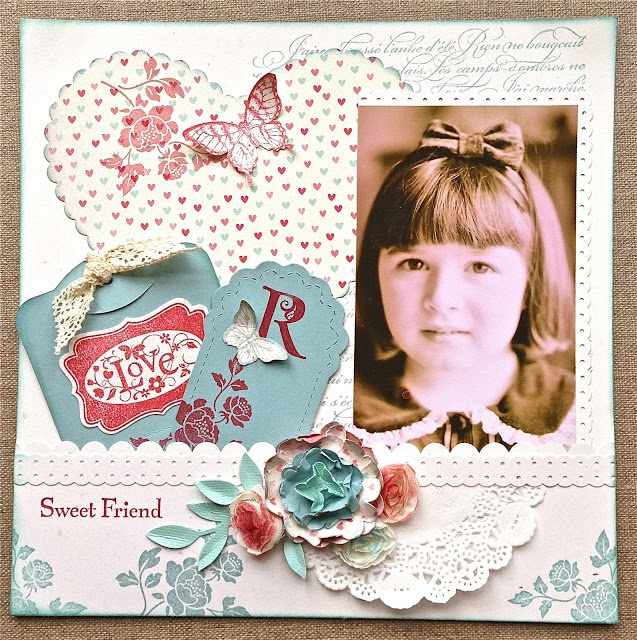 Petite Fleur Paperie: More Amore Scrap Book Layout with Tag Pocket !