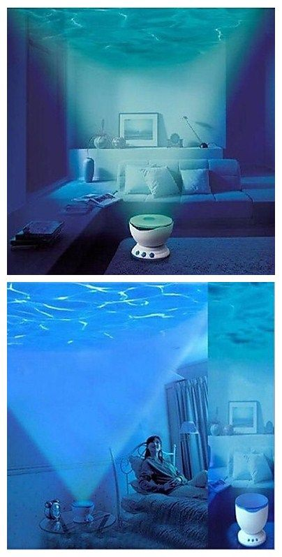 Ocean waves led night light projector, I always wonder how it would be wandering in the deep ocean and not scary of heading home safely. Now your dream come true. Click to see the details.