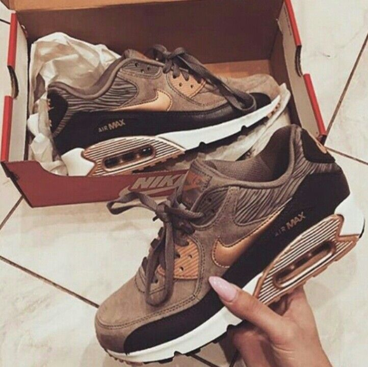 nike air max 90 brown and gold