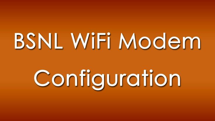 Configure BSNL Wifi Modem,Router to Enable Wifi/WLAN