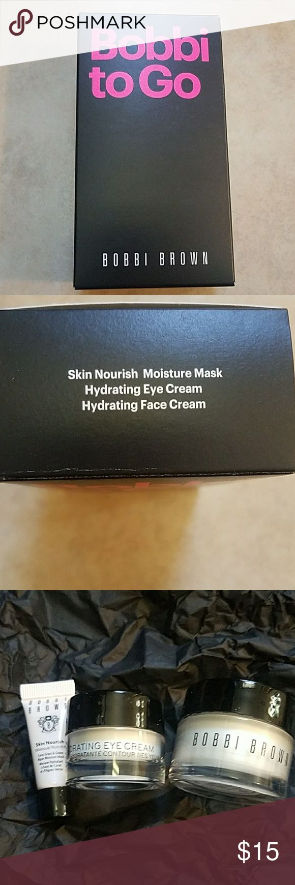 Bobbi to Go Mini skin nourish mask, hydrating eye cream, hydrating face cream Bobbi Brown Makeup