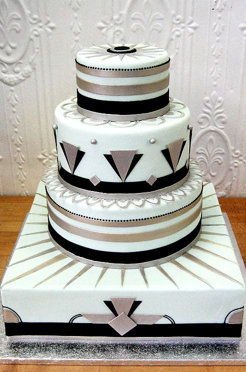 212 best The 1920 s Art Deco Style Cakes images on ...
