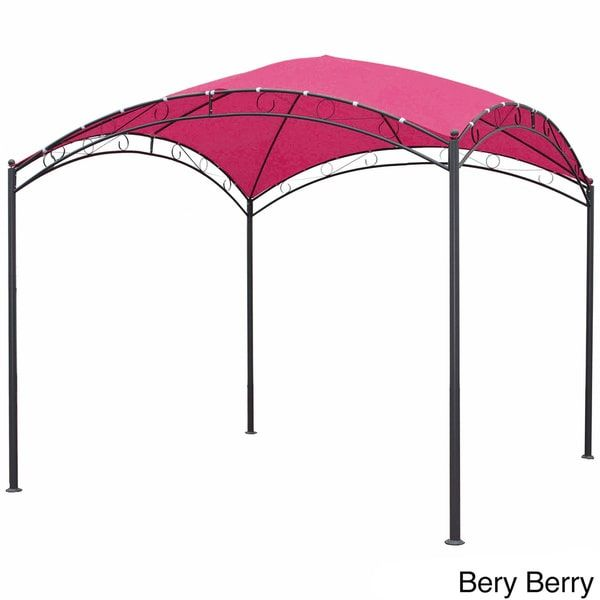 International Caravan St. Kitts 10 ft. Steel Square Dome-top Outdoor Gazebo