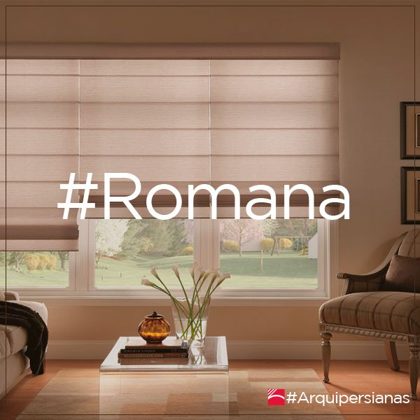 Una #Persiana #Romana tiene un estilo moderno y presenta la ventaja de fabricarse con telas que no se ven afectadas por manchas ni polvo.  #ArquiPersianas #DecoraTuEspacio