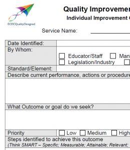 Quality Improvement Plan (QIP) Individual item Template