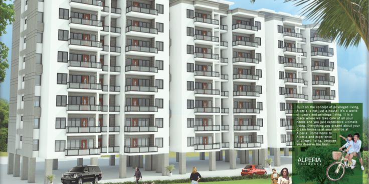3d Exterior design [ Modeling, Texturing, Lighting ]& Graphic design -Alperia Residential Apartment, India