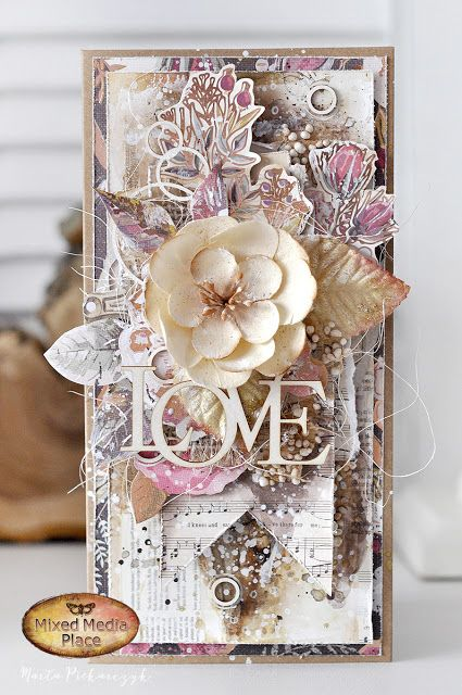Today I want to show you my newest card.        I created light and airy composition with flowers - without too much embellishments. F...