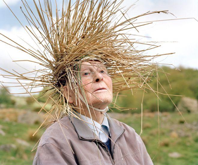 Old People Wearing Vegetation