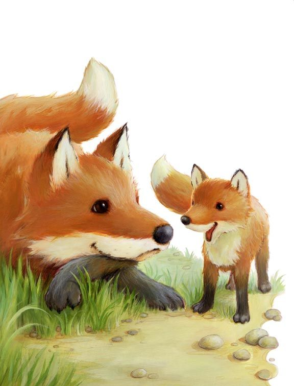 """Alison Edgson won """"Pewter Plate"""" award for  best illustration of a fiction story for the year  on Little Fox, Little Fox for High Five magazine."""