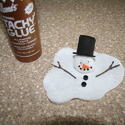 How cute is this melted snowman.  Directions given.