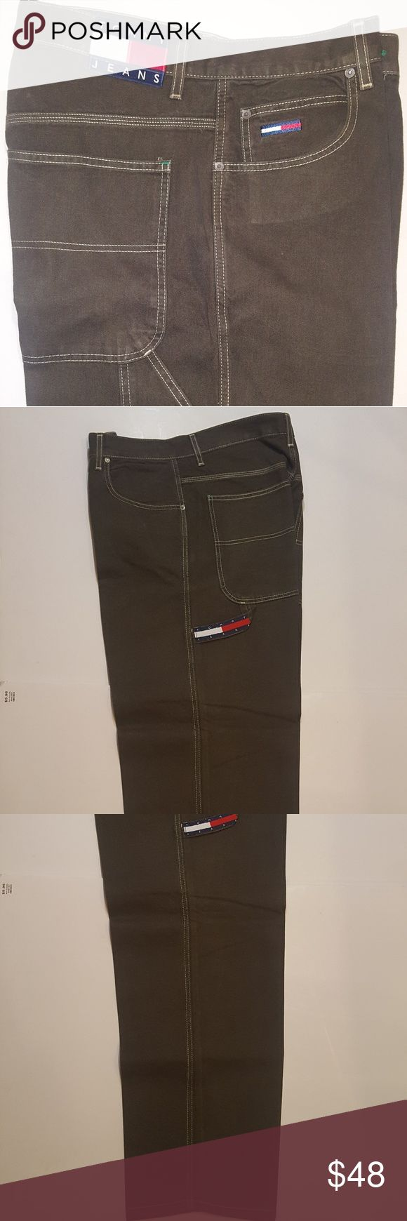 Mens Tommy Hilfiger Carpenter Jeans 32w 100% Cott Mens Tommy Hilfiger Jeans 32 x 30L 100% Cotton Tommy Hilfiger Jeans Relaxed