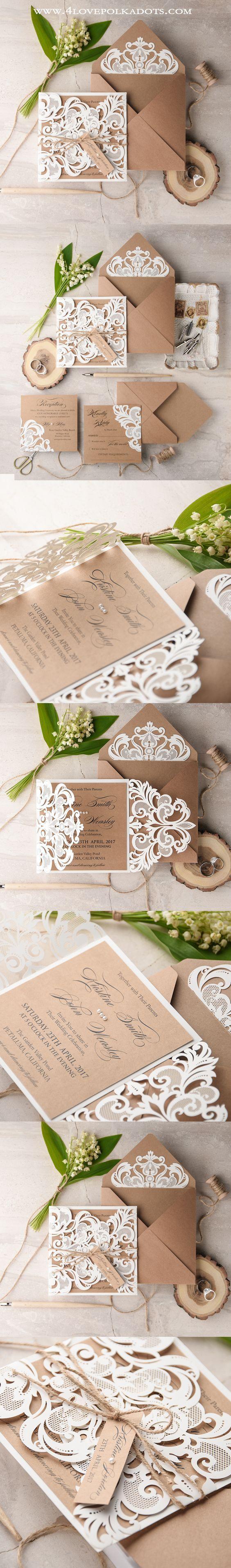 Laser cut Wedding Invitations  ||  @4LOVEPolkaDots
