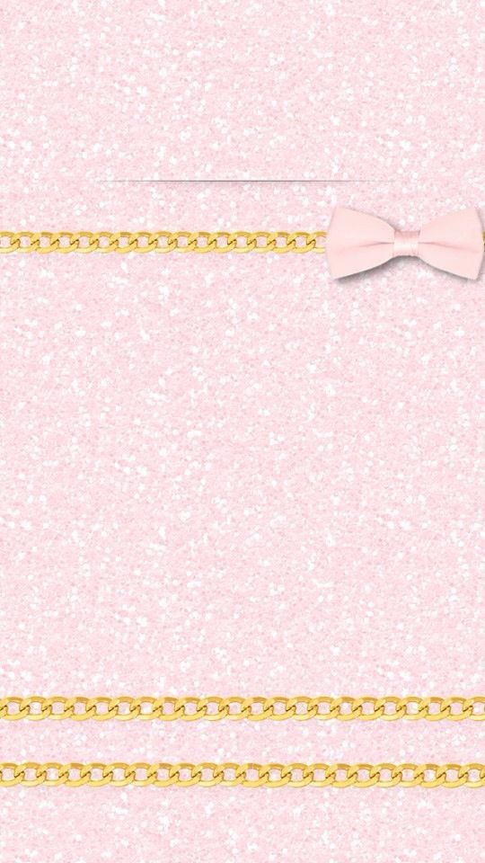 pink girly glitter ribbon gold iphone wallpaper lock