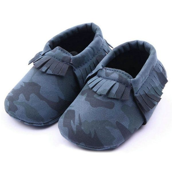 Baby Boy Girls Moccasins Shoes Army Camouflage Pu Leather Shoes Newborn Baby Kids Soft Soled Infant Tassels Shoes Kid Shop Global Kids Baby Shop Online Crib