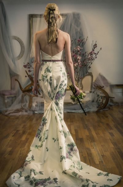 The back of this dress is stunning! http://www.stylemepretty.com/2015/04/24/elizabeth-fillmore-spring-2016/