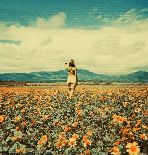 .Pulp Art, Open Spaces, Fields Of Dreams, Sunflowers Fields, Flower Children, Flower Fields, Flower Girls, Photography, Retro Vintage