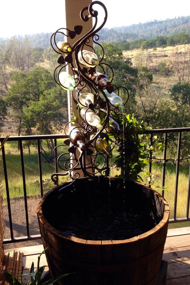 Hometalk | DIY Wine Bottle Outdoor Fountain