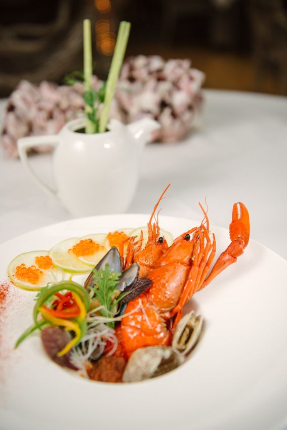 #PureMenu Thai #Shellfish #Broth Fruits de Mer  - A selection of seafood with a Thai broth