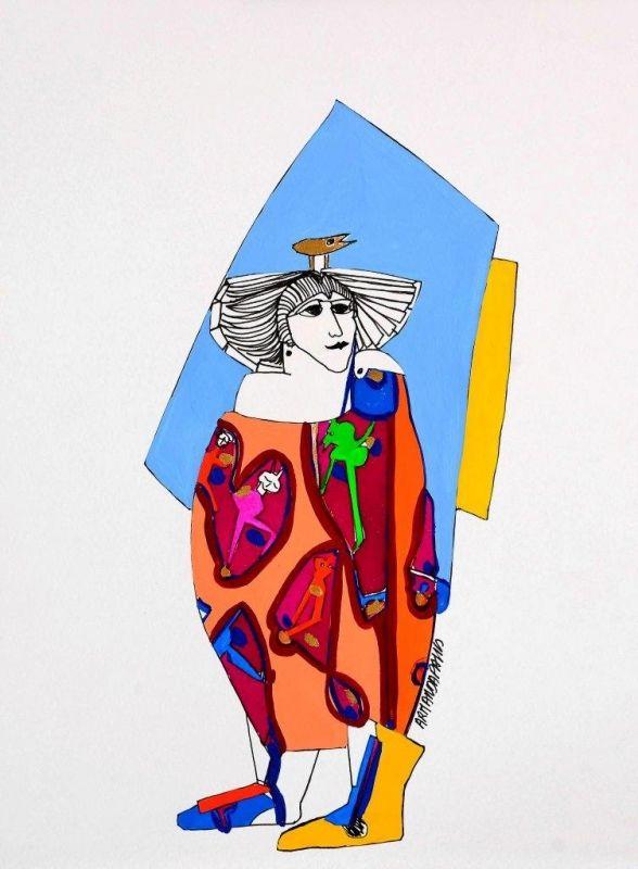 Armanda Passos Sem Título - 146)15 Chinese Ink and gouache x Paper 28 cm x 21 cm #ArmandaPassos #Gouache #Ink #Painting #Drawing #Color #Artwork #SãoMamedeArtGallery #Portugal #Lisbon #Art