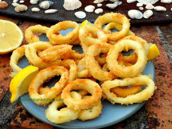 Quick and easy squid rings in the oven! | mylittleitaliankitchen.com
