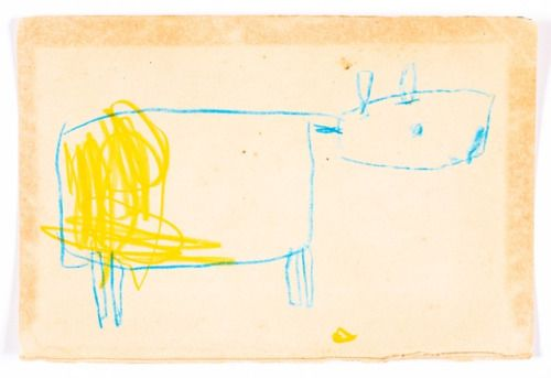 yellow cowresin stick on paper7 3/8″ x 5″7.2016w. tucker ...