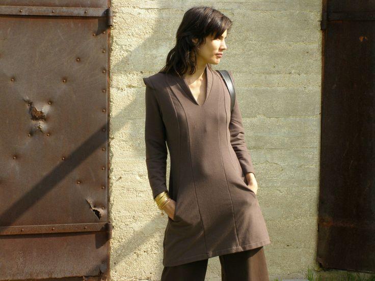 Cozy tunic- Women's tunic-dress-long sleeves tunic dress-Winter fashion-Fall fashion-Womens sweater-Zina's tunic (145.00 USD) by SHIHAR