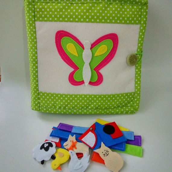 Quiet book busy book activity book felt book by MomsMagicHands