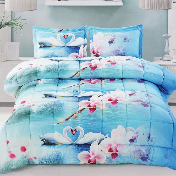 Swan Love Comforter Set Swans Comforter And Swan Love