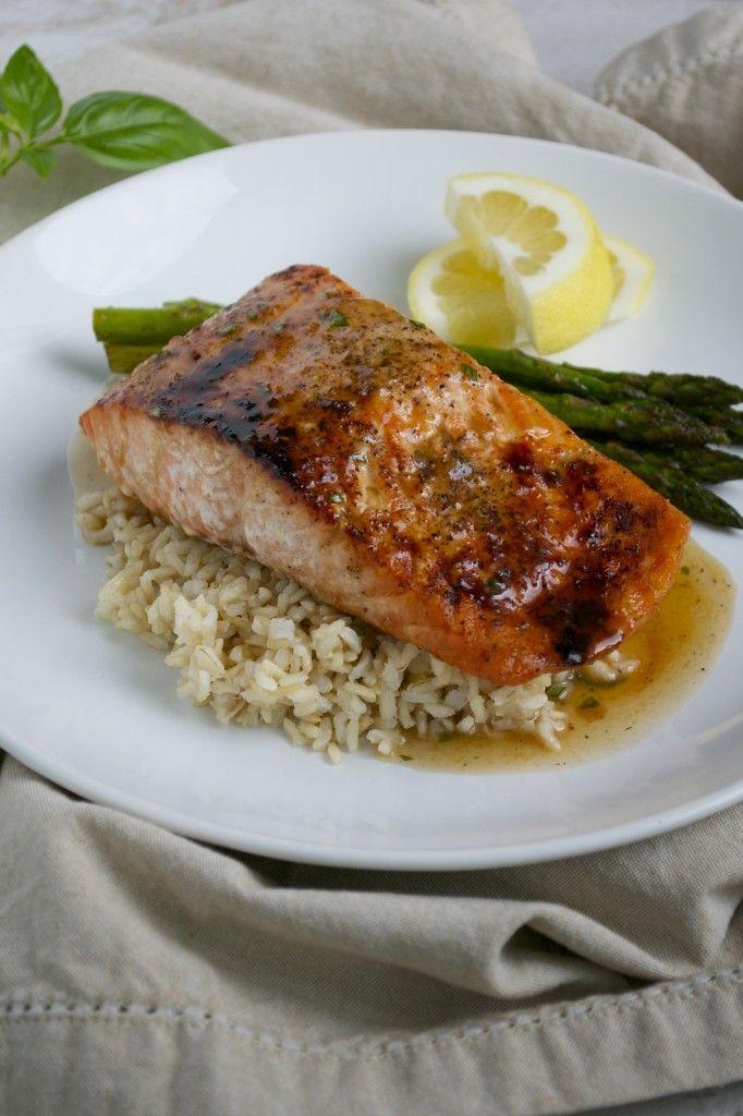 ... , Roasted Salmon, Honey Glaze, Maine Eating, Honey Gingers, A Salmon