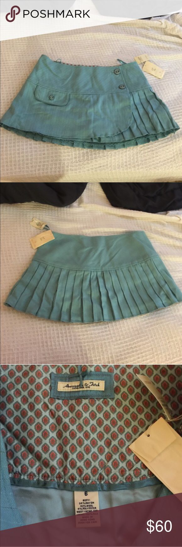Abercrombie and Fitch Skirt Size 6 Blue Abercrombie and Fitch size 6 skirt. Never Worn. New With Tags Abercrombie & Fitch Skirts