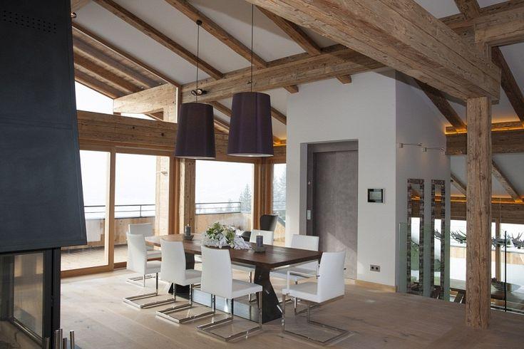 Penthouse Wohnung in Kitzbühel kaufen in eigenem Chalet mit Bergblick