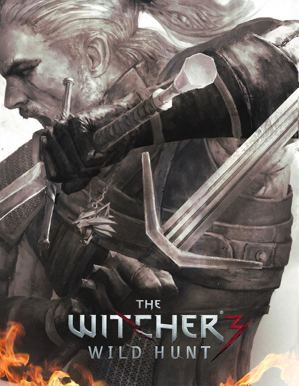 Witcher 3: Wild Hunt. Fanart cover. By kike1988.