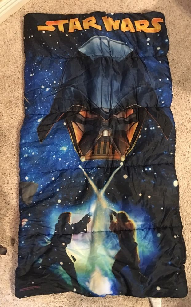 Star Wars Sleeping Bag 2005 Lucasfilm Ltd Blue Revenge Of The Sith 2 Sided  | eBay