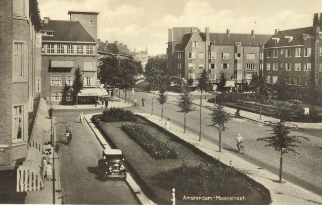 MAASSTRAAT Prentbriefkaarten van Amsterdam Zuid - Plan Zuid