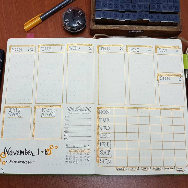 Weekly spread