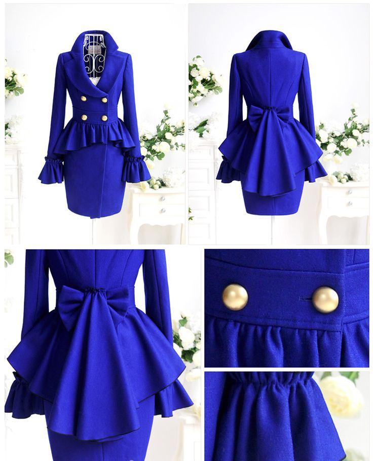 I could totally rock this. :) This reminds me a lot of a late victorian style jacket. As I am very fond of that period, I'm not surprised I like this jacket so much!