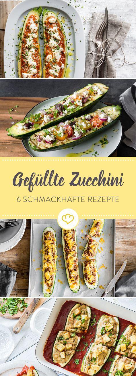 Von Low carb bis deftig: Wir haben diese 6 schmackhaften Rezeptideen für gefüllte Zucchini für dich zusammengestellt zum Ausprobieren und genießen!