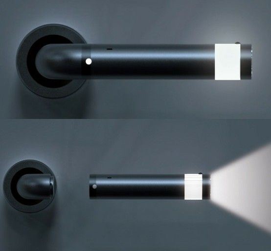 detachable flashlight door handle...for when you have to use the bathroom or when things go bump in the night