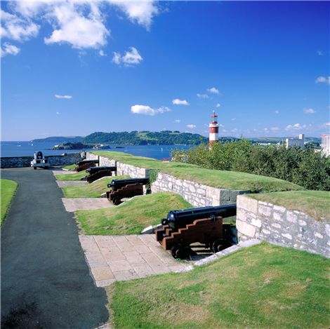 The royal citadel cannons in Plymouth.