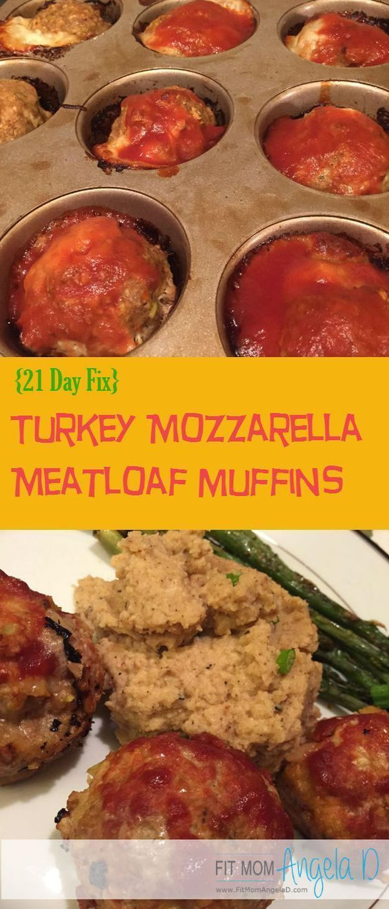 Turkey Mozzarella Meatloaf Muffins - Kid approved! 21 Day Fix, 21 Day Fix Extreme, and The Master's Hammer and Chisel approved recipe | Clean Eats | Healthy Dinner | http://www.fitmomangelad.com