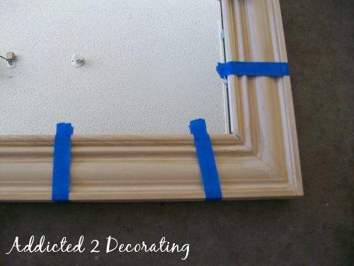 DIY Framed Mirrors