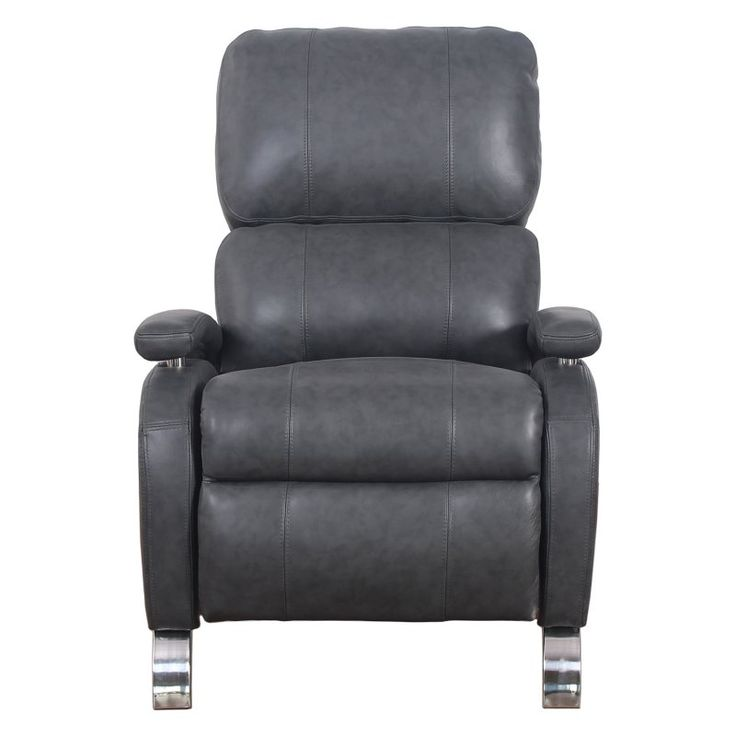 Barcalounger Oracle II Leather Push Back Recliner Toby Gray - 74160352392