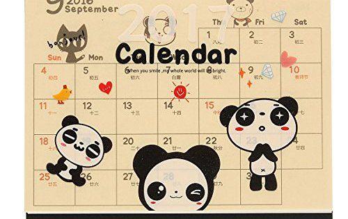 KING DO WAY 2017 Calendrier De Table Bureau Maison Desk Calendar Avec Matte Film Panda: Ce planificateur mensuel est un excellent moyen de…