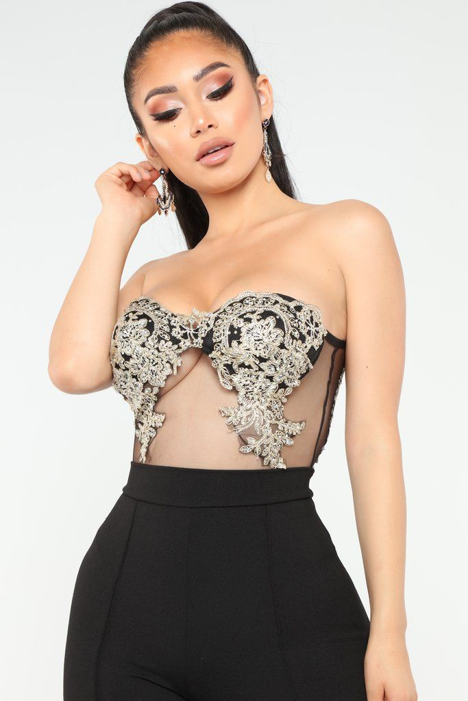 fdeaaf3e9f9 Met Gala Mesh Bodysuit - Black/Gold in 2019 | Fashion Nova ...