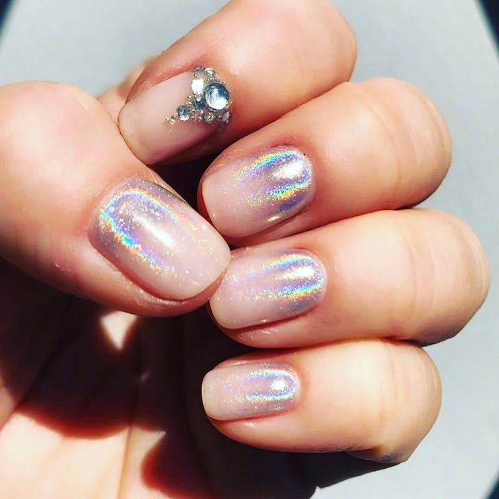 Iridescent ombre. Discover these fresh nail-art ideas for spring.