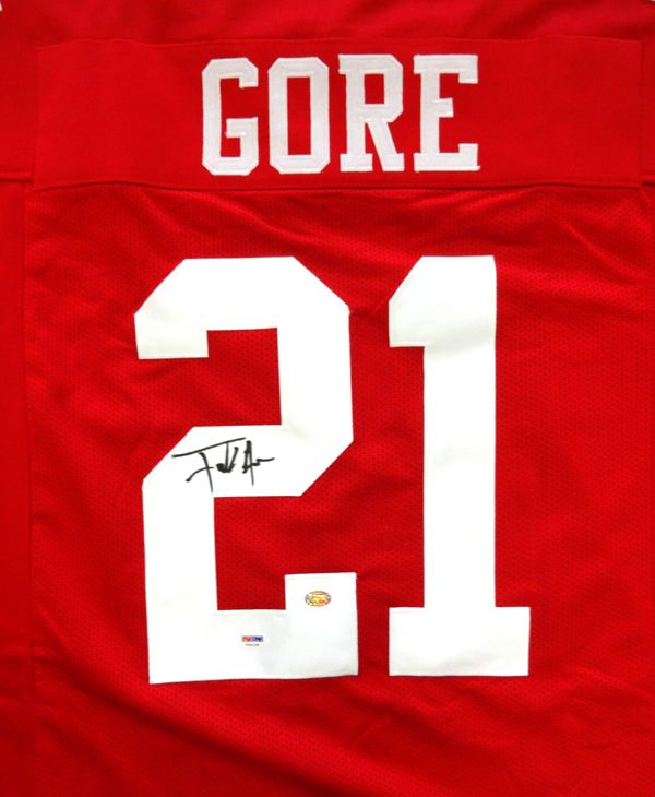 Frank Gore Autographed San Francisco 49'ers Red Jersey PSA/DNA. - Gameday Sports & Memorabilia