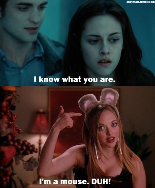 amanda seyfried, funny, kristen stewart, mean girls, twilight